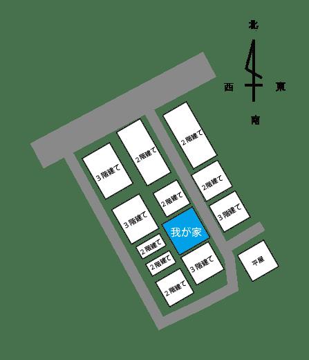 近所の建物の状況