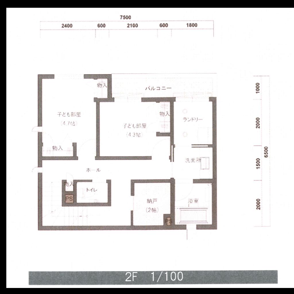 積水ハウス提案間取り図 2階